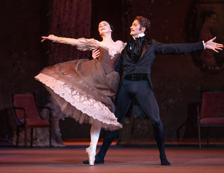 'Onegin' Ballet performed by the Royal Ballet at the Royal Opera House, London, UK