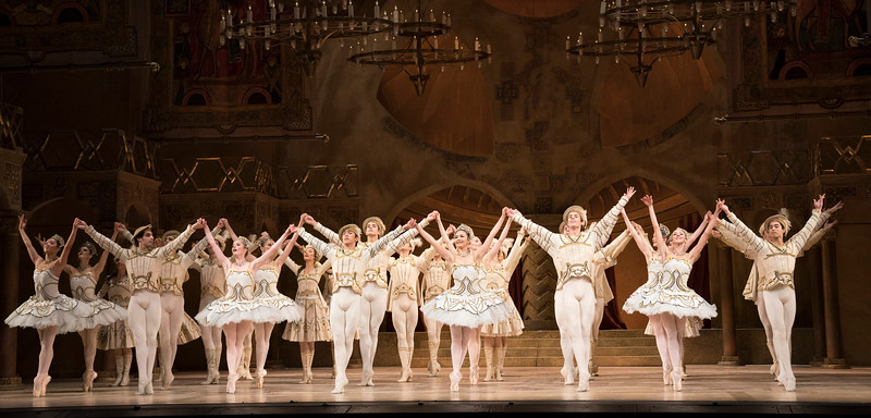 'Raymonda Act III' Ballet performed by the Royal Ballet at the Royal Opera House, London, UK