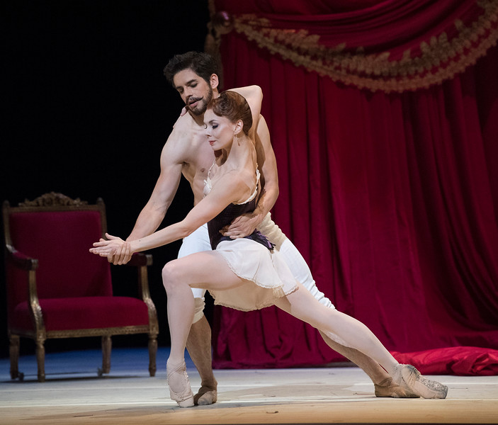 'Strapless' Ballet performed by the Royal Ballet at the Royal Opera House, London, UK