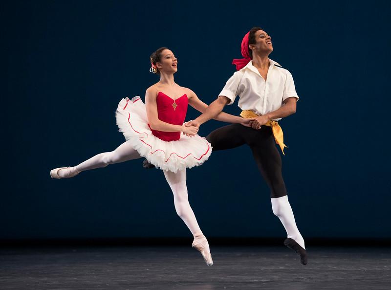 'Tarantella' Ballet performed by the Royal Ballet at the Royal Opera House, London, UK
