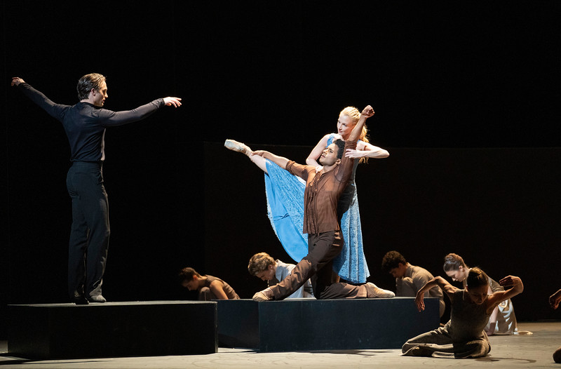 'The Cellist' Ballet choreographed by Cathy Marston performe by the Royal Ballet at the Royal Opera House, London, UK