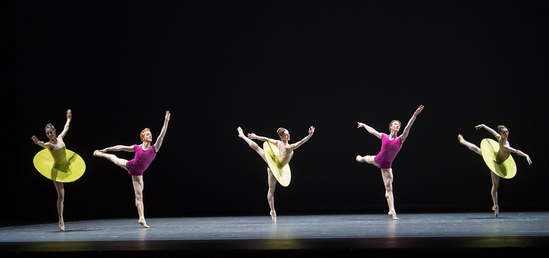 'Vertiginous Thrill of Exactitude' Ballet performed by the Royal Ballet at the Royal Opera House, London, UK