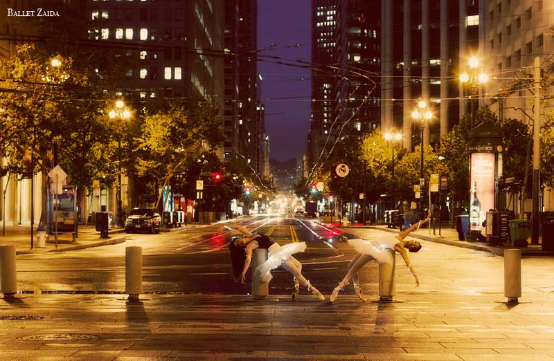 Dancers - Jeraldine Mendoza & Emma Rubinowitz.<br /> <br /> Location - Market St. San Francisco, California.<br /> <br /> © 2010 Oliver Endahl
