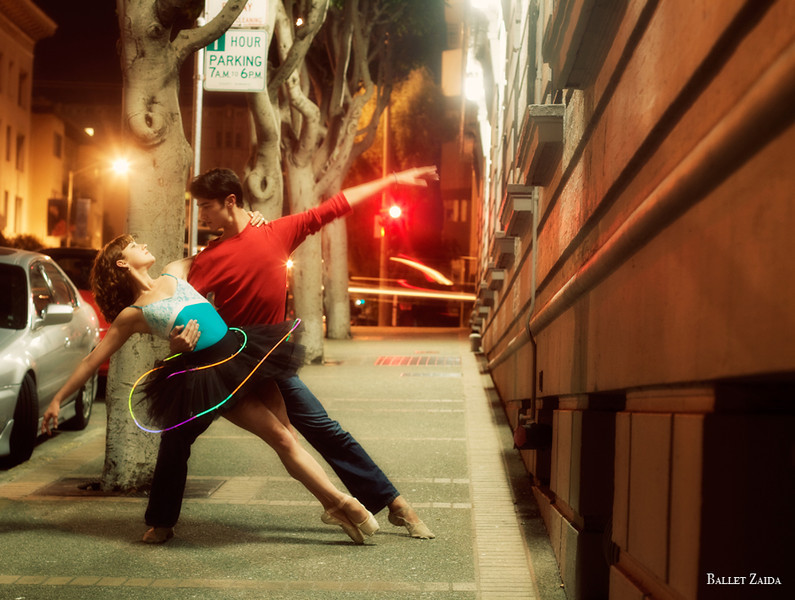 Dancers - Bryn Gilbert & Sean Bennett.<br /> <br /> Location - Gough St. San Francisco, California.<br /> <br /> © 2010 Oliver Endahl