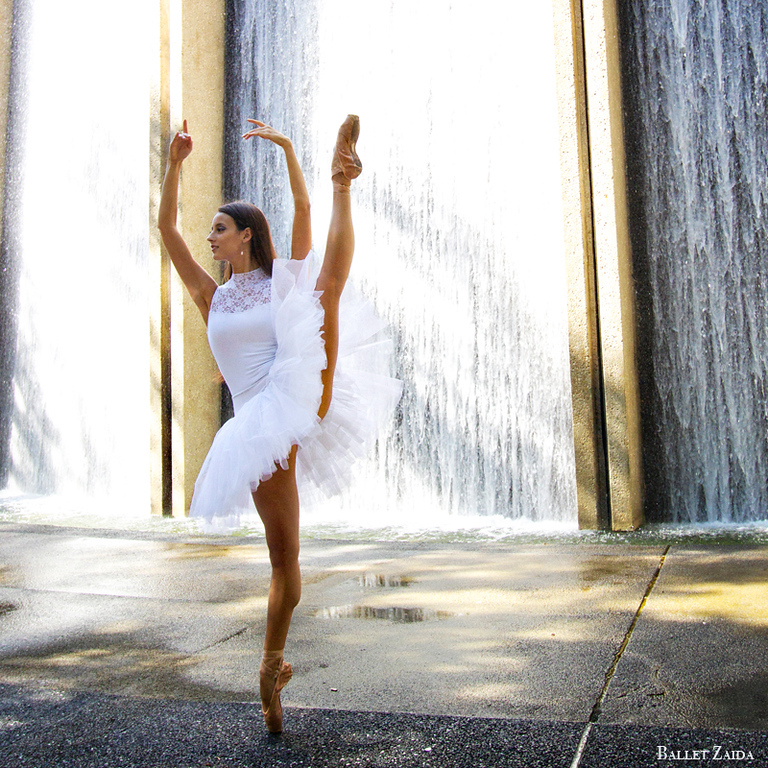 Dancer - Liana Carpio.<br /> <br /> Location - The Waterwall. Houston, Texas.<br /> <br /> © 2012 Oliver Endahl