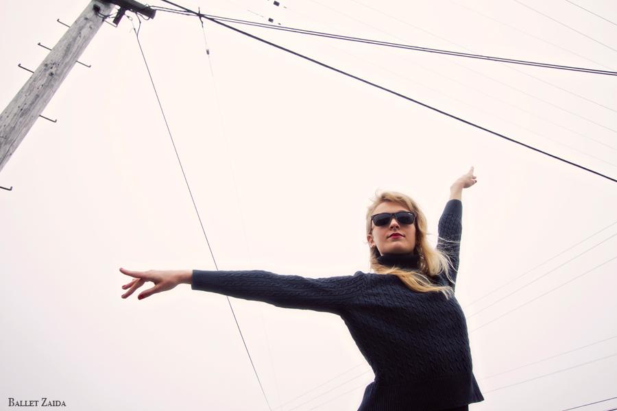Dancer - Alanna Endahl.<br /> <br /> Location - Geary St. San Francisco, California.<br /> <br /> © 2011 Oliver Endahl