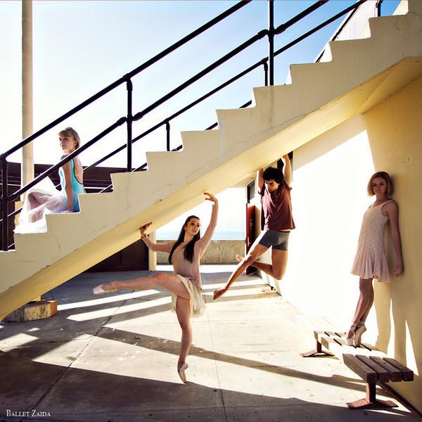 Dancers - Alanna Endahl, Jordan Hammond, John Rowan & Nicole Voris.<br /> <br /> Location - China Beach. San Francisco, California.<br /> <br /> © 2012 Oliver Endahl