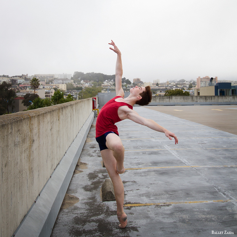 Dancer - David Donnelly.<br /> <br /> Location - Hayes Valley. San Francisco, California.<br /> <br /> © 2011 Oliver Endahl