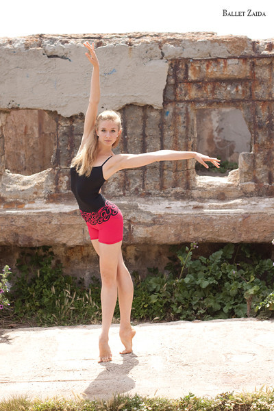 "Dancer - Kristina Lind <br /> <br /> Wearing - ""Red Script"" by Saut De Basque.<br /> <a href=""http://www.sautdebasque.com/SautDeBasque/Red_Script_womens.html"">http://www.sautdebasque.com/SautDeBasque/Red_Script_womens.html</a><br /> <br /> Location - Sutro Bath Ruins. San Francisco, California.<br /> <br /> © 2010 Oliver Endahl"