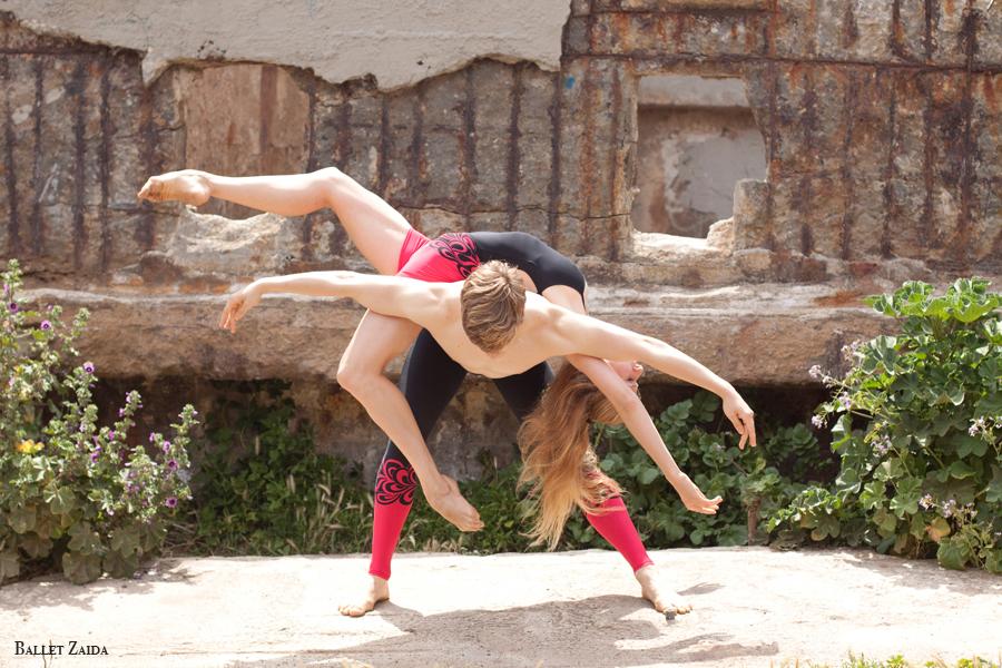 "Dancers - Myles Thatcher & Kristina Lind. <br /> <br /> Wearing ""Red Script"" by Saut De Basque.<br /> Womens:<br /> <a href=""http://www.sautdebasque.com/SautDeBasque/Red_Script_womens.html"">http://www.sautdebasque.com/SautDeBasque/Red_Script_womens.html</a><br /> Mens:<br /> <a href=""http://www.sautdebasque.com/SautDeBasque/Red_Script.html"">http://www.sautdebasque.com/SautDeBasque/Red_Script.html</a><br /> <br /> Location - Sutro Bath Ruins. San Francisco, California.<br /> <br /> © 2010 Oliver Endahl"