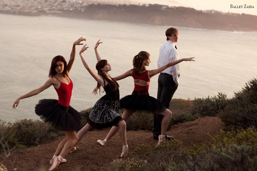 Dancers - Rebekah Hostetter, Elizabeth Powell, Nicole Voris, Evan Hewer.<br /> <br /> Location - Marin Headlands. Sausalito, California.<br /> <br /> © 2011 Oliver Endahl