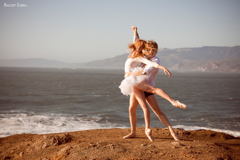 Dancers - Kristina Lind & Myles Thatcher.<br /> <br /> Location - Lands End. San Francisco, California.<br /> <br /> © 2011 Oliver Endahl