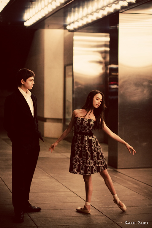 Dancers - Aaron Renteria & Jessica Cohen.<br /> <br /> Location - Civic Center. San Francisco, California.<br /> <br /> © 2011 Oliver Endahl