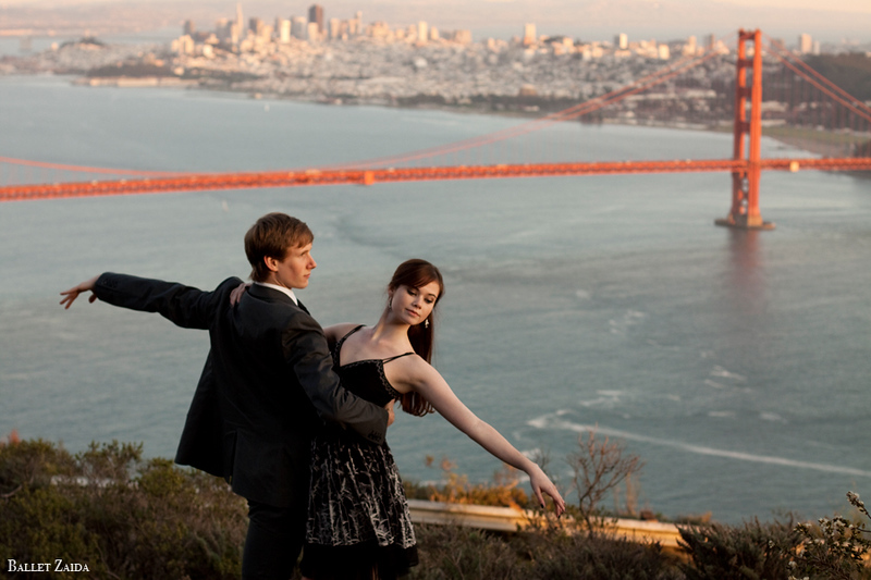 Dancers - Evan Hewer & Elizabeth Powell.<br /> <br /> Location - Marin Headlands. Sausalito, California.<br /> <br /> © 2011 Oliver Endahl