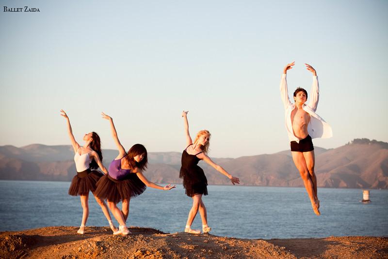 Dancers - Jessica Cohen, Eri Nikai, Alanna Endahl, Aaron Renteria.<br /> <br /> Location - Lands End. San Francisco, California.<br /> <br /> © 2011 Oliver Endahl