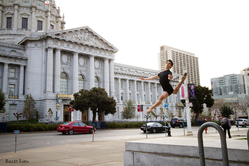 Dancer - Aaron Renteria.<br /> <br /> Location - Civic Center. San Francisco, California.<br /> <br /> © 2011 Oliver Endahl