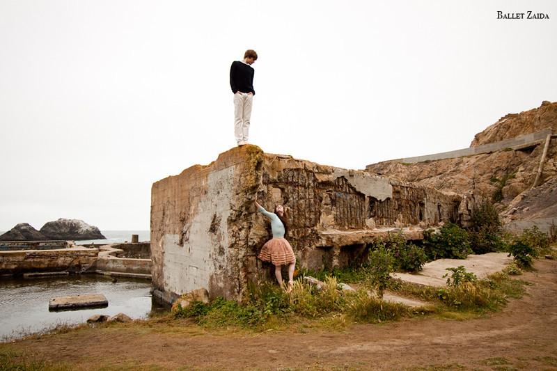 Dancers - Ellen Rose Hummel & Harrison James Wynn.<br /> <br /> Location - Sutro Bath Ruins. San Francisco, California.<br /> <br /> © 2011 Oliver Endahl