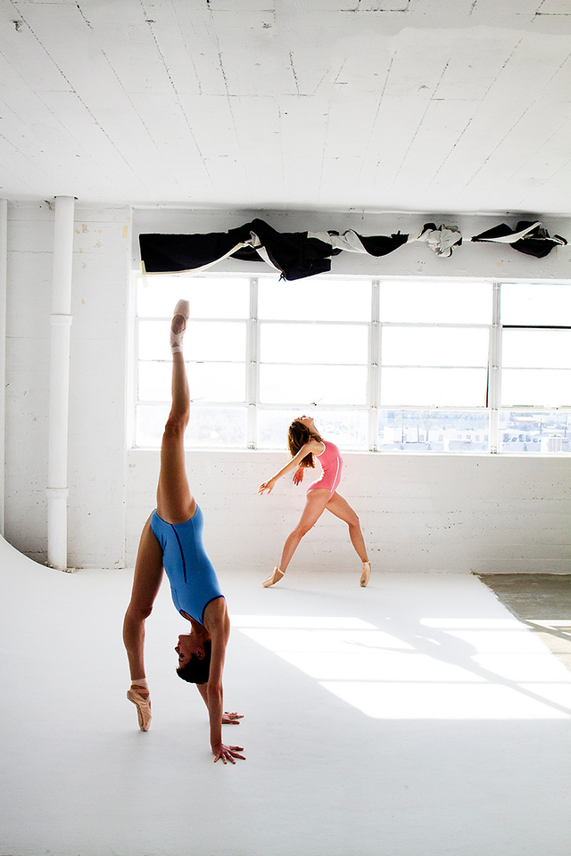 "Affinities - Nicole Voris & Morgan Quinn.<br /> <br /> Wearing - The ""Malibu"" Leotard. Available at: <a href=""http://thedancewearproject.com/collections/ballet-zaida-leotards"">http://thedancewearproject.com/collections/ballet-zaida-leotards</a>"