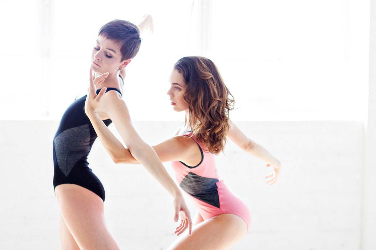 """Affinities - Nicole Voris & Morgan Quinn.<br /> <br /> Wearing - The """"Venice"""" Leotard. Available at: <a href=""""http://thedancewearproject.com/collections/ballet-zaida-leotards"""">http://thedancewearproject.com/collections/ballet-zaida-leotards</a>"""