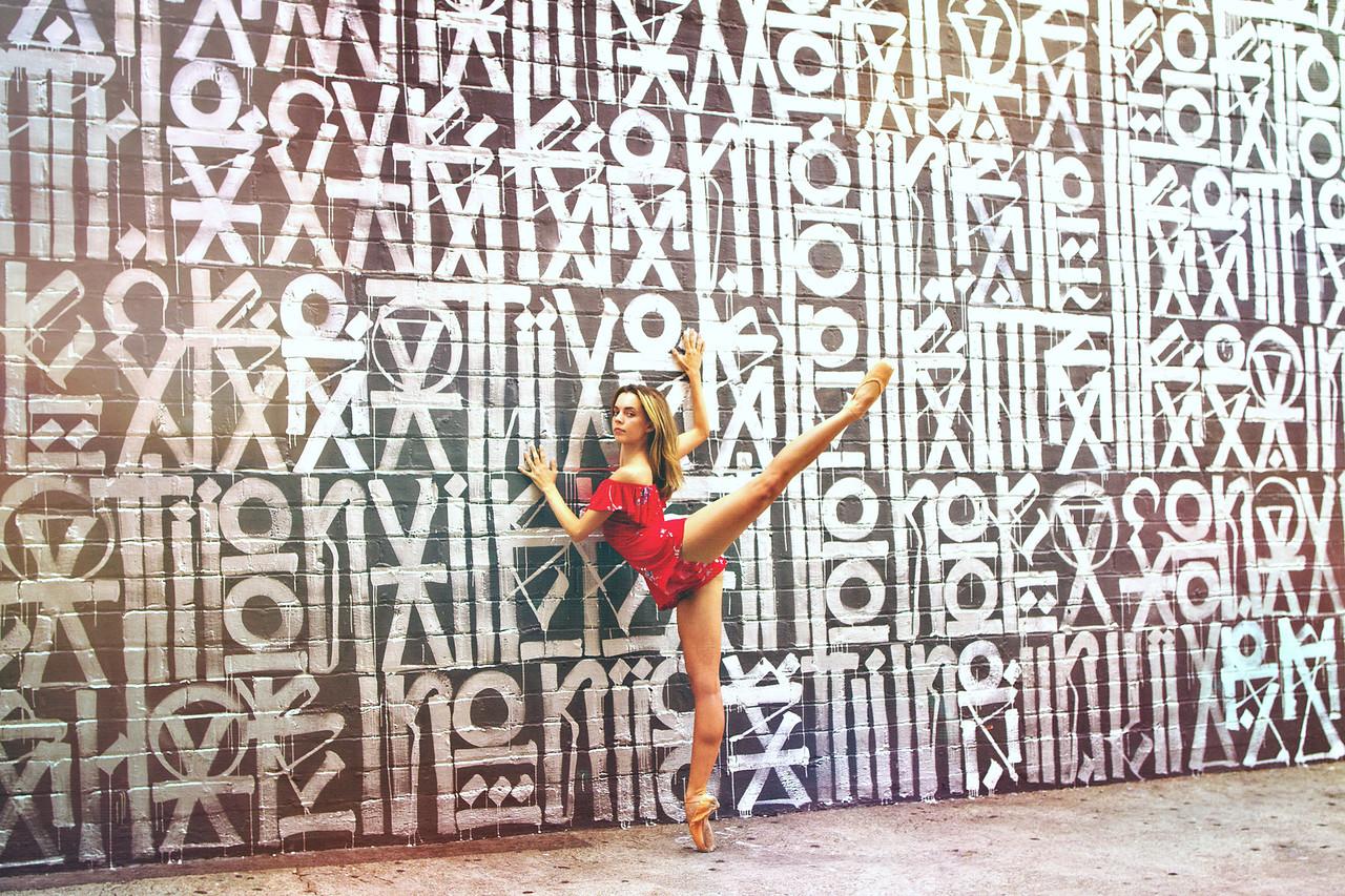 Affinity - Morgan Quinn. <br /> <br /> Mural - RETNA. <br /> <br /> Location - Los Angeles, California. <br /> <br /> Ballet Zaida is on Instagram. Username: BalletZaida