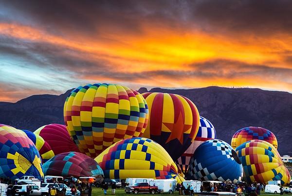Fireburst Sunrise - Balloon Fiesta 2013