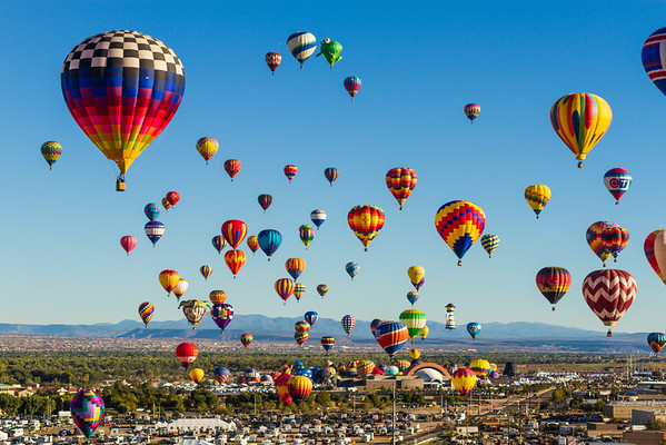 Aerial Mass Ascension - Balloon Fiesta 2013