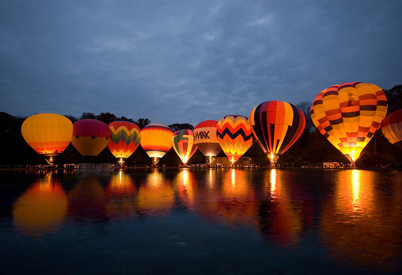 Hot Air Balloon Glow Eden Park Cincinnati