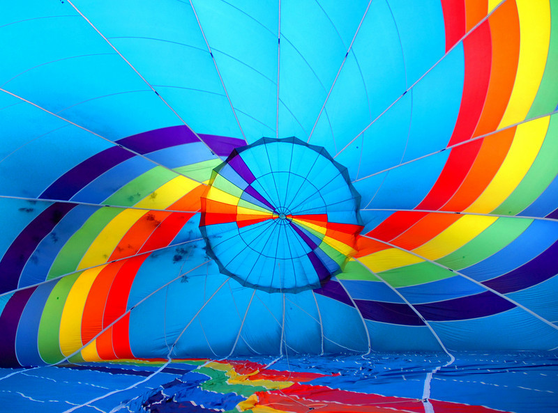Skittles Hot Air Balloon Glow
