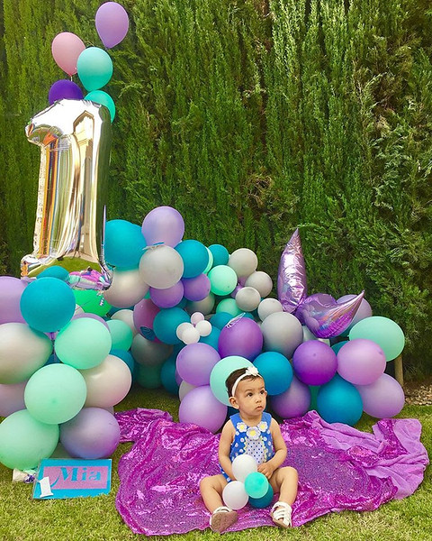 Mermaid Balloon Decor - 1st Birthday Party