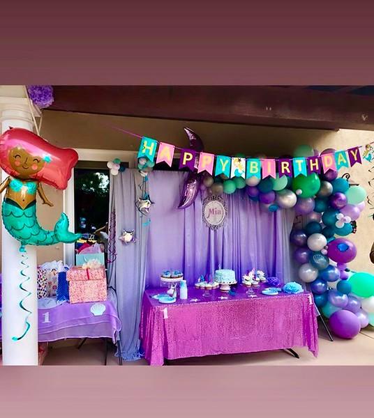 Mermaid Party (Mermaid Tail) Balloon Display