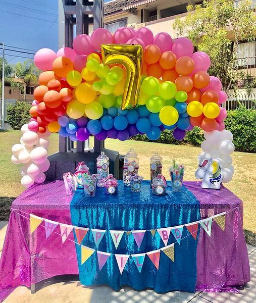 Custom Unicorn Rainbow Party