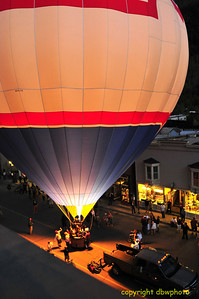 Balloon Glow in the streets of downtown Telluride.