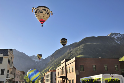 What a way to see downtown Telluride.