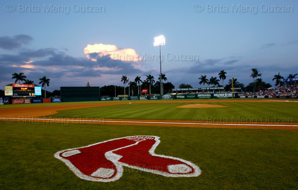 - FORT MYERS, FL  March 9, 2011 -<br /> <br /> The Boston Red Sox play the Baltimore Orioles in Grapefruit League action at City of Palms Park in Fort Myers.<br /> <br /> (Brita Meng Outzen/Boston Red Sox)