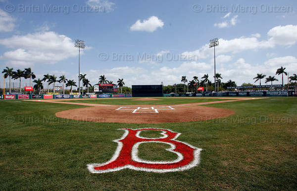 FORT MYERS, FL, March 19, 2008: The field at City of Palms Park before a Boston Red Sox spring training game. (Brita Meng Outzen)