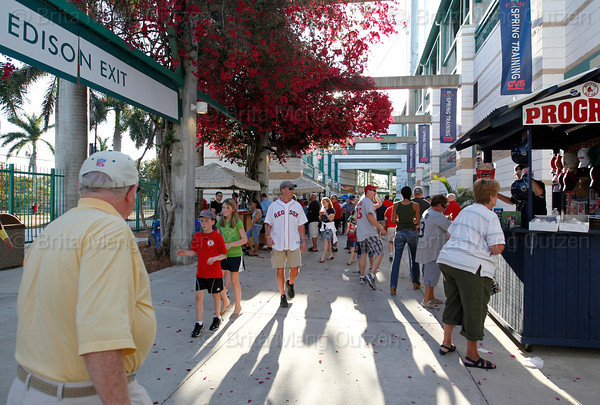 FORT MYERS, FL, March 25, 2011: Fans walk the concourse at City of Palms Park prior to the Boston Red Sox game against the Toronto Blue Jays. (Brita Meng Outzen/Boston Red Sox)