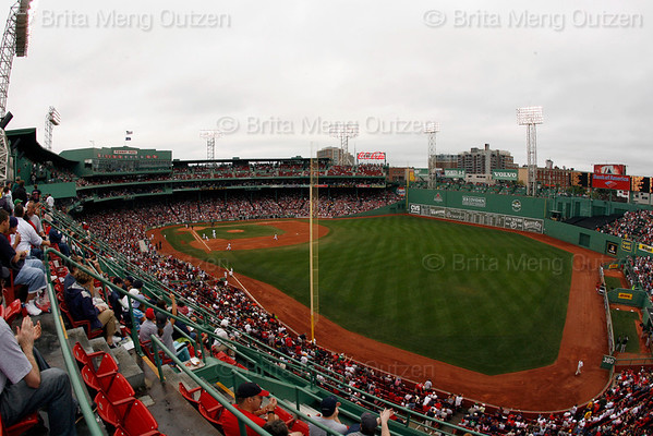BOSTON, September 14, 2008: Fans watch the Boston Red Sox play the Toronto Blue Jays from the right field grandstands at Fenway Park. (Photo by Brita Meng Outzen/MLB.com)