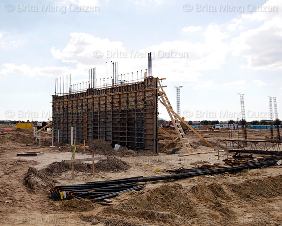 Feb. 16, 2011, Fort Myers, Fla: Construction is under way at the new Red Sox Spring Training Ballpark and Player Development Complex located on Daniels Parkway. The new Complex is slated to open in 2012. (Brita Meng Outzen/Boston Red Sox)