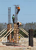 March 4, 2011, Fort Myers, Fla.: Construction workers build the pilings for the new Boston Red Sox Spring Training Ballpark and Player Development Complex in Fort Myers, Fla. The new complex is slated to open in 2012. (Brita Meng Outzen/Boston Red Sox)