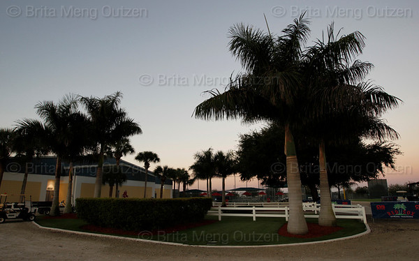Feb. 19, 2011, Fort Myers, FL: It's all quiet in the media area next to the Boston Red Sox clubhouse before the first day of full team workouts at spring training. (Brita Meng Outzen/Boston Red Sox)