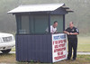 Feb. 22, 2011, Fort Myers, FL: Friendly security greetings from the guard shack entering the player development complex on Edison Avenue. (Brita Meng Outzen/Boston Red Sox)