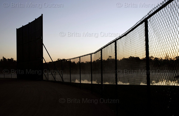 Feb. 19, 2011, Fort Myers, FL: The sun rises at the Boston Red Sox player development complex on the first day of full team workouts at spring training. (Brita Meng Outzen/Boston Red Sox)