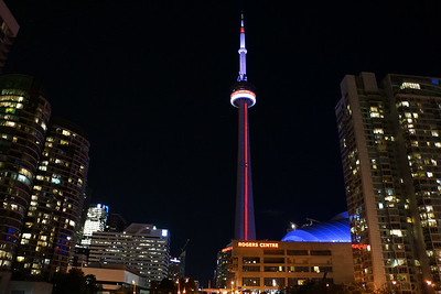CN Tower outside the Rogers Center