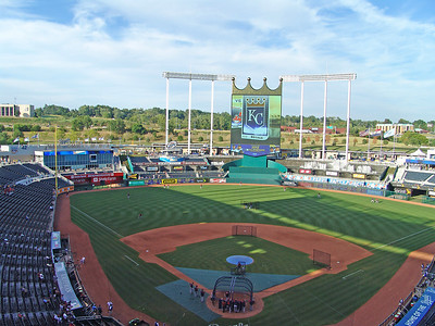 View from the upper deck at Kauffman
