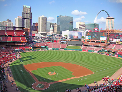 Busch Stadium in St. Louis, home of the Cardinals