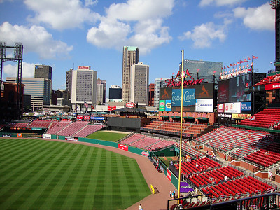 View from our seats at Busch Stadium