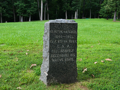 The site where Clinton Hatcher was killed at the battle of Ball's Bluff, VA. He was a resident of Loudoun County, VA.