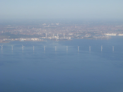 Windmills generating electricity