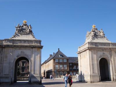 Christianborg Palace gates
