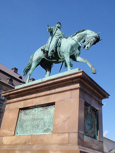 Another equestrian statue in the back of Christiansborg Palace